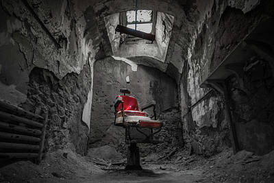 Phillies Photograph - The Red Chair by Kristopher Schoenleber