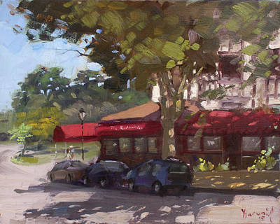 Coaches Painting - The Red Coach Inn by Ylli Haruni