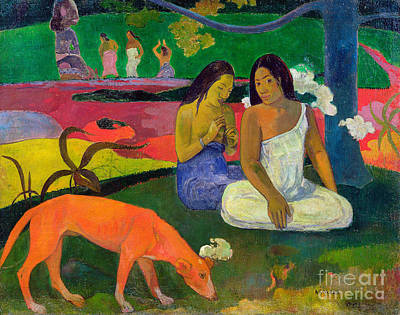 Hounds Painting - The Red Dog by Paul Gauguin