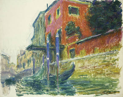 French Signs Painting - The Red House by Claude Monet