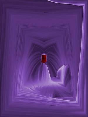 Monolith Digital Art - The Red Obelisk by Tim Allen
