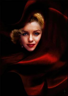 Marilyn Photograph - The Red Queen  by Daniel Arrhakis