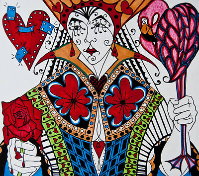 The Red Queen Print by Jani Freimann