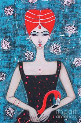 Painting - The Red Queen by Natalie Briney