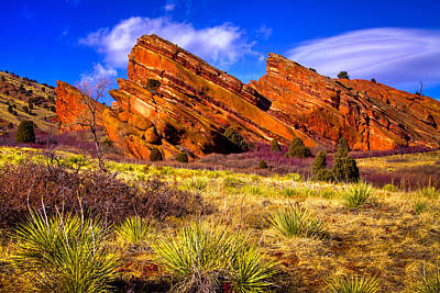 The Red Rock Park Vi Print by David Patterson