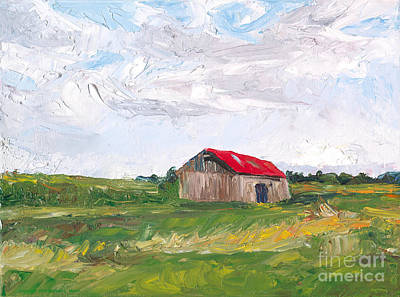 The Red Roof Print by Michael Martin