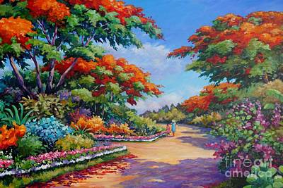 Trinidad Painting - The Red Trees Of Savannah by John Clark