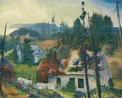 Vines Painting - The Red Vine, Matinicus Island, Maine by George Bellows