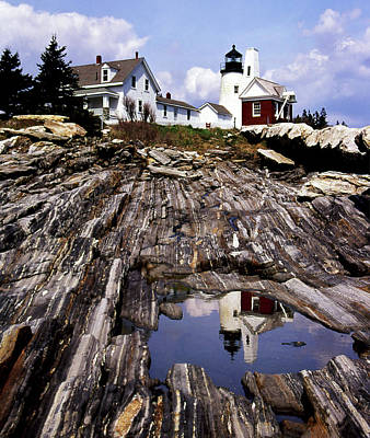 Beautiful Lighthouses Photograph - The Reflection At Pemaquid by Skip Willits