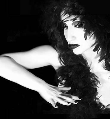 Self-portrait Photograph - The Reluctant Reveal - Self Portrait by Jaeda DeWalt