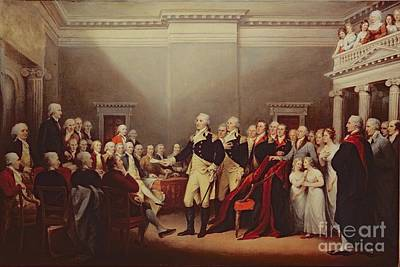The Resignation Of George Washington Print by John Trumbull