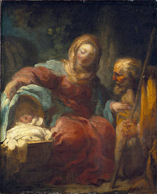 Jean-honore Fragonard Painting - The Rest On The Flight Into Egypt by Jean-Honore Fragonard