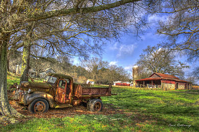 Dairy Farming Photograph - The Resting Place Shadows by Reid Callaway