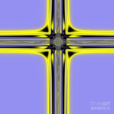 God Digital Art - The Resurrection Cross Fractal 62 by Rose Santuci-Sofranko