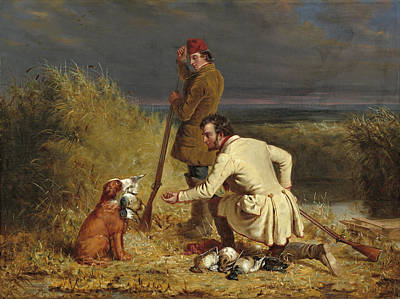 William Ranney Painting - The Retrieve by William Ranney