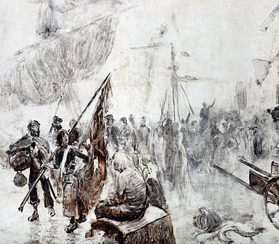 Of Pirate Ship Painting - The Return Of The Corsairs by Maurice Henri Orange