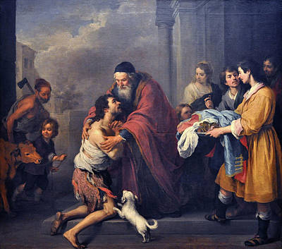 Prodigal Painting - The Return Of The Prodigal Son by Esteban Murillo