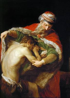 Prodigal Son Painting - The Return Of The Prodigal Son by Pompeo Batoni