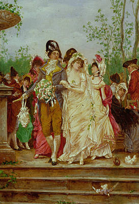 Wedding Bouquet Painting - The Revolutionist's Bride, Paris, 1799 by Frederik Hendrik Kaemmerer