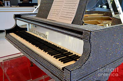 The Rhinestone Piano Print by Mary Deal