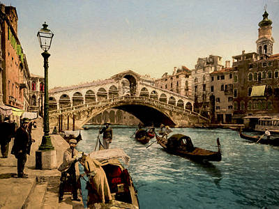 Memories Painting - The Rialto Bridge by John K Woodruff