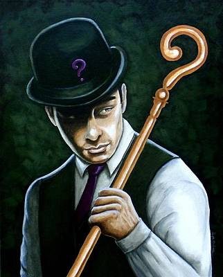 Riddler Painting - The Riddle Of Dr Edward Nigma by Al  Molina