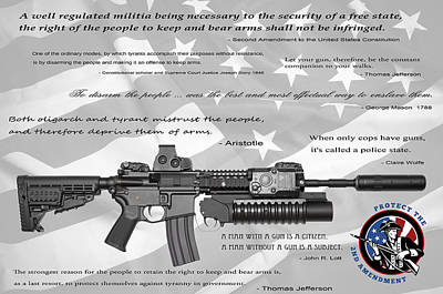 The Right To Bear Arms Print by Daniel Hagerman