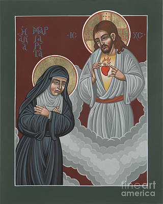 St Margaret Mary And The Sacred Heart 238 Print by William Hart McNichols