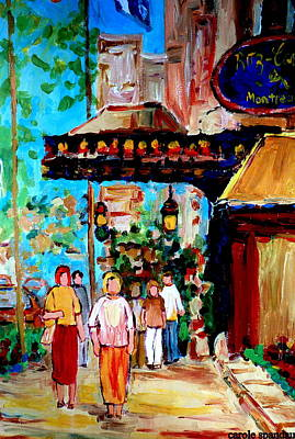 Montreal Street Life Painting - The Ritz Carlton In Spring by Carole Spandau
