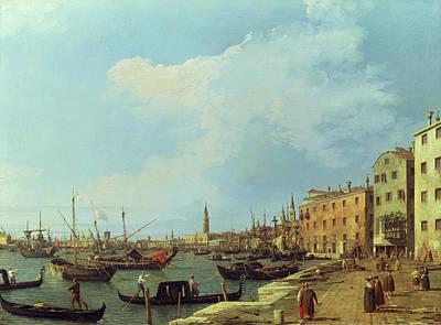 Gondola Painting - The Riva Degli Schiavoni by Canaletto
