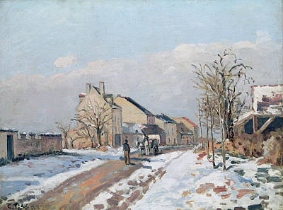 Winter Scenes Painting - The Road From Gisors To Pontoise by Camille Pissarro