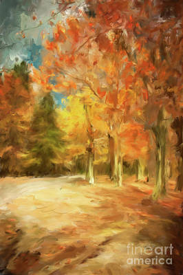 Digital Art - The Road Home by Lois Bryan