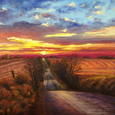 Road Rod Painting - The Road Home by Rod Seel