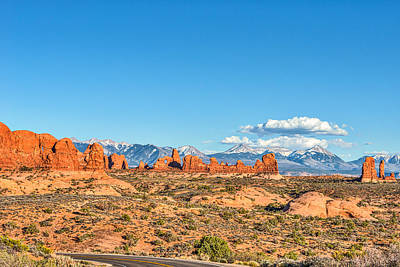 Desert Photograph - The Road To Arches National Park by Tod and Cynthia Grubbs