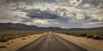 The Road To Death Valley Print by Peter Tellone
