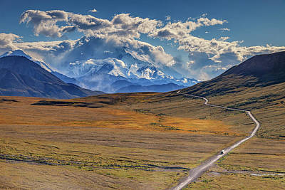 The Road To Denali Print by Rick Berk