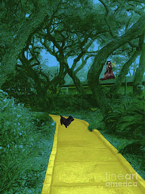 Black Dog Digital Art - The Road To Oz by Methune Hively