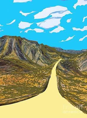 Socal Mixed Media - The Road To San Bernardino  by Ishy Christine  Degyansky