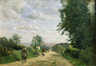 The Road To Sevres Print by Jean Baptiste Camille Corot