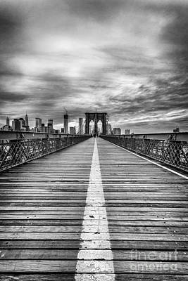 Brooklyn Bridge Photograph - The Road To Tomorrow by John Farnan