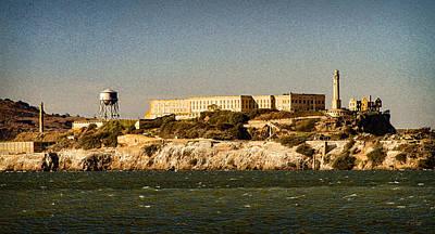 San Francisco Digital Art - The Rock Alcatraz 2 by Bonnie Follett
