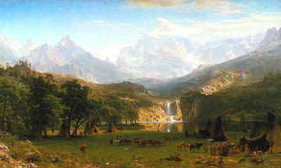 Manifest Destiny Painting - The Rocky Mountains, Lander's Peak, C. 1863 by Albert Bierstadt