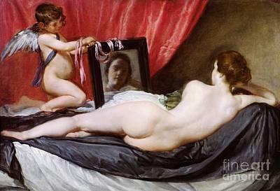Venus Painting - The Rokeby Venus by Diego Rodriguez de Silva y Velazquez