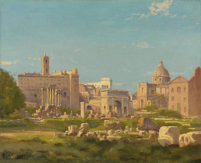 Painting - The Roman Forum by Henri-Joseph Harpignies
