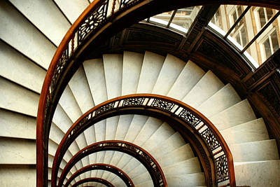 The Rookery Spiral Staircase Print by Ely Arsha