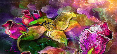Art Miki Painting - The Roses In The Sheep Dream by Miki De Goodaboom