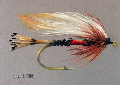Fly Fishing Painting - The Royal Coachman by Cindy Gillett
