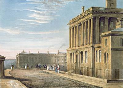 Cobbles Painting - The Royal Crescent by David Cox