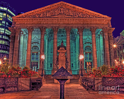 Stone Buildings Photograph - The Royal Exchange In The City London by Chris Smith