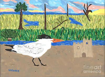 Sand Castles Painting - The Royal Tern by Valoree Doran
